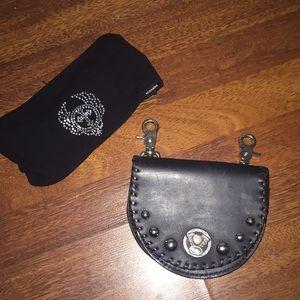 Handbags - Biker leather studded belt bag